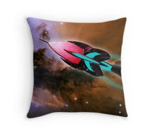 A Cruiser Interceptor on Patrol at the Fairy of Eagle Nebula Throw Pillow