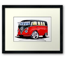 VW Splitty (11 Window) Camper (E) Framed Print