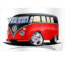VW Splitty (11 Window) Camper (E) Poster