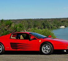 Ferrari Testarossa by the River by Ash Simmonds