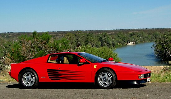 Ferrari Testarossa by the River by Ash Simmonds
