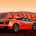 Scary Lamborghini Gallardo at Uluru by Ash Simmonds