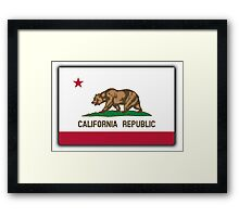 Californian Flag, Flag of California, California Republic, The Bear Flag, State flags of America, American, USA Framed Print
