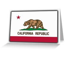 Californian Flag, Flag of California, California Republic, The Bear Flag, State flags of America, American, USA Greeting Card