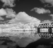 NH-VT Trestle infrared by Troy Dodds