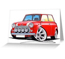 Rover Mini Cooper Sport Red Greeting Card