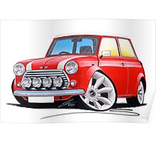 Rover Mini Cooper Sport Red Poster