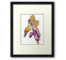 "Goku & Gohan ""Father-Son kamehameha"" - Dragon Ball Z Framed Print"