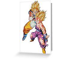 """Goku & Gohan """"Father-Son kamehameha"""" - Dragon Ball Z Greeting Card"""
