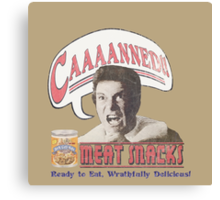 Khan's CAAAANNED! Meat Snacks w/o logo Canvas Print