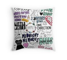 midnight memories collage COLORED Throw Pillow