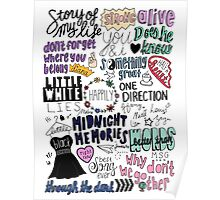 midnight memories collage COLORED Poster