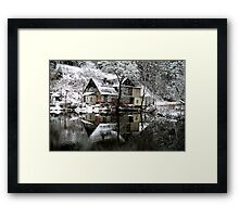 Winter House Framed Print