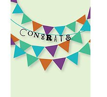 Congrats Banner Card by mantaraydesigns