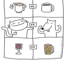Why choose ? I love both ! / Cat (& dog) doodle by eyecreate