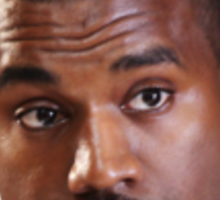 Kanye west head Sticker