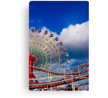 Merry goes round Canvas Print