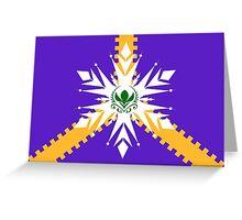 Elsanna flag w/ stripes Greeting Card