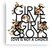GIRLS/GIRLS/BOYS Canvas Print