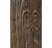 Weathered Wood  Photographic Print