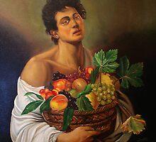 boy with fruit basket by jacinto