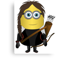 Katniss Hunger Games Minion Canvas Print
