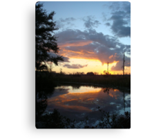 December Sunset 2014 Canvas Print