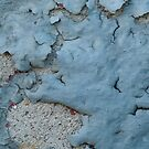 Blue Peeling Paint on Cement by thatstickerguy