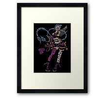 Jinx Typography Framed Print
