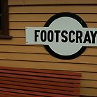 A Rail Station...who would know where Footscray is? by Peter Rowley