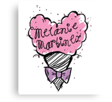 MM Cotton Candy heart Canvas Print