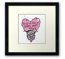 COtton CAndy Heart Framed Print