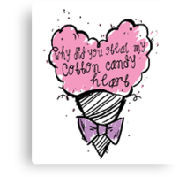 COtton CAndy Heart Canvas Print