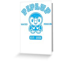 Piplup - College Style Greeting Card
