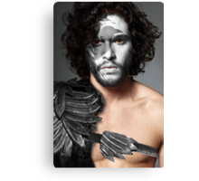 Jon Snow Crow House Stark War Paint Canvas Print