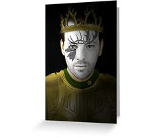 Renly Baratheon House War Paint Greeting Card