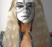 Daenerys Targaryen Dragon House War Paint by HilaryHeffron