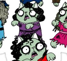 Zombie Thriller Cats Sticker