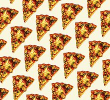 Pizza Pattern by Kelly  Gilleran