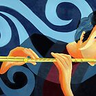 Flute Man by Sharon Geisen Hayes