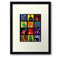 DC Comics Justice Leage Silhouettes Framed Print