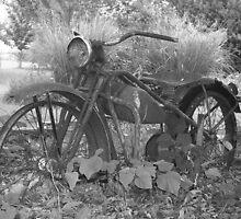 Vintage Motorcycle by Lorrie