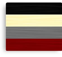 Brush Stroke Stripes: Black, Cream, Grey, and Red Canvas Print