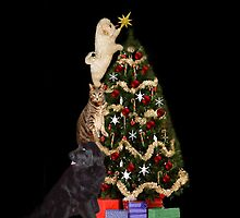 ☃ MM JUST ABOUT DONE ADDING THE STAR THE FINAL TOUCH  > FESTIVE ANIMAL DECORATING TREE PILLOW AND OR TOTE BAG☃ by ✿✿ Bonita ✿✿ ђєℓℓσ