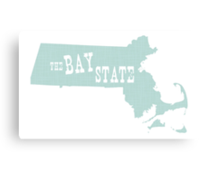 Massachusetts State Motto Slogan Canvas Print
