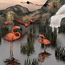 Flamingo Falls by Lisa  Weber