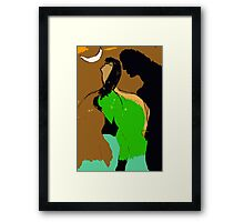 Woman and Man. Framed Print