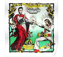 Jesus and Elvis Poster