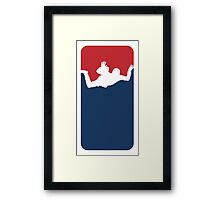 Skidiving Framed Print