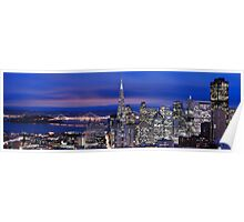 San Francisco skyline at night panorama 2 Poster